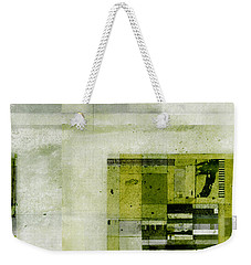Weekender Tote Bag featuring the digital art Abstractitude - C4bv2 by Variance Collections