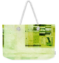 Weekender Tote Bag featuring the digital art Abstractitude - C4v by Variance Collections