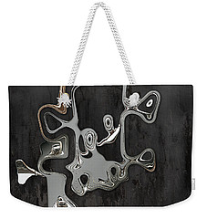 Weekender Tote Bag featuring the digital art Abstrait En Sol Majeur  by Variance Collections