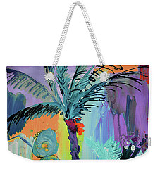 Abtract, Landscape With Palm Tree In California Weekender Tote Bag