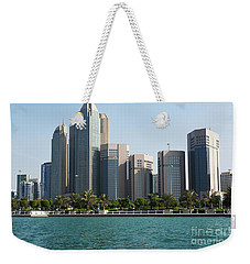 Weekender Tote Bag featuring the photograph Abu Dhabi by Hanza Turgul