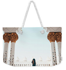 Weekender Tote Bag featuring the photograph Abu Dhabi Mosque by Oliver Sjostrom