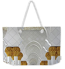 Weekender Tote Bag featuring the photograph Abu Dhabi Mosque by Rachelle Magpayo