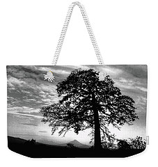 Acacia And Volcano Silhouetted Weekender Tote Bag
