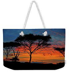 Acacia Surnise On The Serengeti Weekender Tote Bag