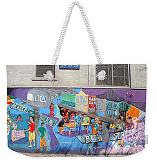 Academy Street Mural Weekender Tote Bag by Cole Thompson
