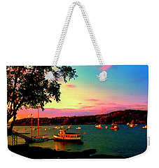 Weekender Tote Bag featuring the photograph  Acadia Bar Harbor Sunset Cruises by Tom Jelen