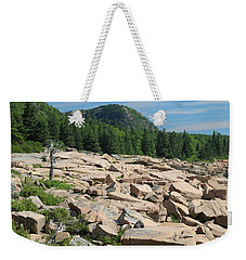 Weekender Tote Bag featuring the photograph Acadia Coastline by Living Color Photography Lorraine Lynch