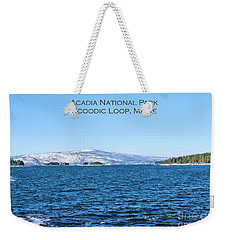 Weekender Tote Bag featuring the photograph Acadia Titled by Debbie Stahre