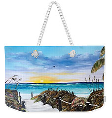Access The Siesta Key Sunset Weekender Tote Bag