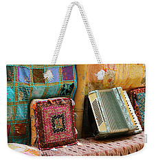 Accordion  With Colorful Pillows Weekender Tote Bag by Yoel Koskas