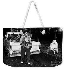 Accordion Scrapper Man  Weekender Tote Bag by Peter Gumaer Ogden
