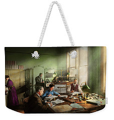 Weekender Tote Bag featuring the photograph Accountant - The- Bookkeeping Dept 1902 by Mike Savad