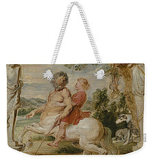Achilles Educated By The Centaur Chiron Weekender Tote Bag by Peter Paul Rubens