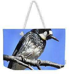 Acorn Woodpecker Close Weekender Tote Bag