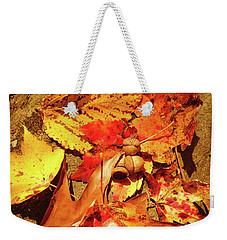 Acorns Fall Maple Leaf Weekender Tote Bag