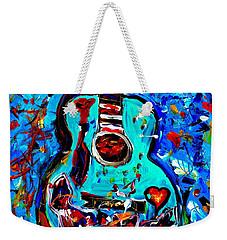 Acoustic Love Guitar Weekender Tote Bag