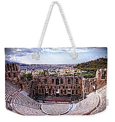 Weekender Tote Bag featuring the photograph Acropolis by Linda Constant