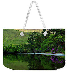 Weekender Tote Bag featuring the photograph Across From Kylemore Abbey by Patricia Griffin Brett