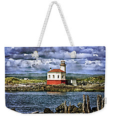 Across From The Coquille River Lighthouse Weekender Tote Bag by Thom Zehrfeld