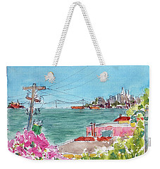 Across The Bay From Sausalito Weekender Tote Bag by Pat Katz