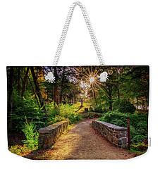 Weekender Tote Bag featuring the photograph Across The Bridge by Rick Berk