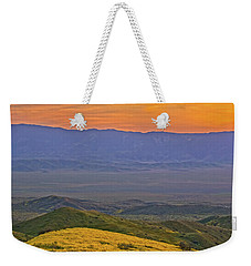 Across The Carrizo Plain At Sunset Weekender Tote Bag