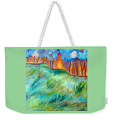 Across The Meadow Weekender Tote Bag by Elizabeth Fontaine-Barr