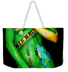 acrylic on FLESH Weekender Tote Bag by Tbone Oliver