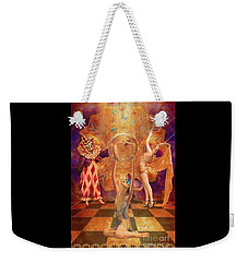 Act 3 Burlesque Circus Follies Weekender Tote Bag by Joseph J Stevens