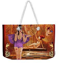Act 4 Circus Pipe Dreams Alice In A Wonderland Weekender Tote Bag