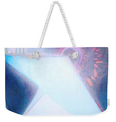 Weekender Tote Bag featuring the painting Act Of Creation by Denise Fulmer