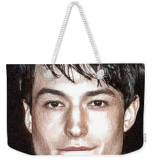 Actor And Musician Ezra Miller Weekender Tote Bag by Best Actors