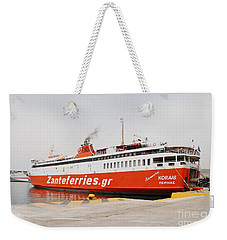 Adamantios Korais Ferry In Athens Weekender Tote Bag