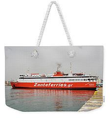 Adamantios Korais Ferry In Piraeus Weekender Tote Bag
