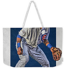 Addison Russell Chicago Cubs Art 2 Weekender Tote Bag by Joe Hamilton