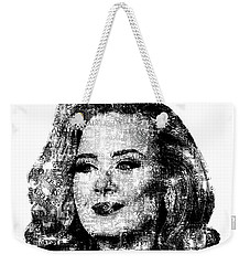 Adele Text Portrait - Typographic Face Poster With The Lyrics For The Song Hello Weekender Tote Bag by Jose Elias - Sofia Pereira