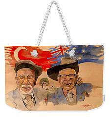 Adil Sahin And Len Hall Weekender Tote Bag by Ray Agius