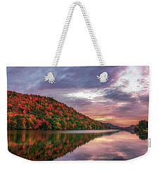 Weekender Tote Bag featuring the photograph Adirondack Sunrise by Mark Papke
