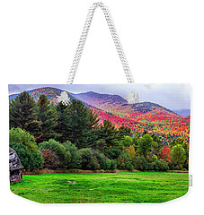 Weekender Tote Bag featuring the photograph Adirondacks Old Barn by Mark Papke