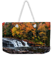 Weekender Tote Bag featuring the photograph Adirondacks Waterfall by Mark Papke