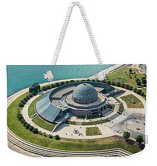 Weekender Tote Bag featuring the photograph Adler Planetarium Aerial by Adam Romanowicz