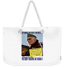 Admiral William Bull Halsey -- Ww2 Propaganda  Weekender Tote Bag