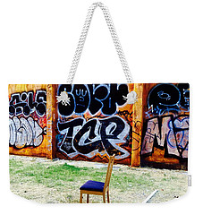 Admiring Barcelona Graffiti Wall Weekender Tote Bag by Funkpix Photo Hunter