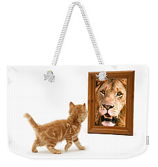 Admiring The Lion Within Weekender Tote Bag