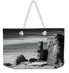 Weekender Tote Bag featuring the photograph Adobe Walls by James Barber
