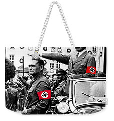 Adolf Hitler Giving The Nazi Salute From A Mercedes #3 C. 1934-2015 Weekender Tote Bag