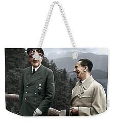 Adolf Hitler Joseph Goebbels Berghof Retreat  Number 2 Agfacolor Heinrich Hoffman Photo Circa 1942 Weekender Tote Bag