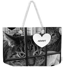 Adopt Weekender Tote Bag by Mary Ellen Frazee