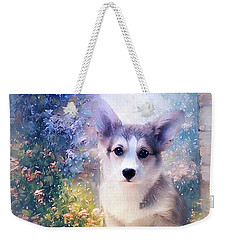 Adorable Corgi Puppy Weekender Tote Bag